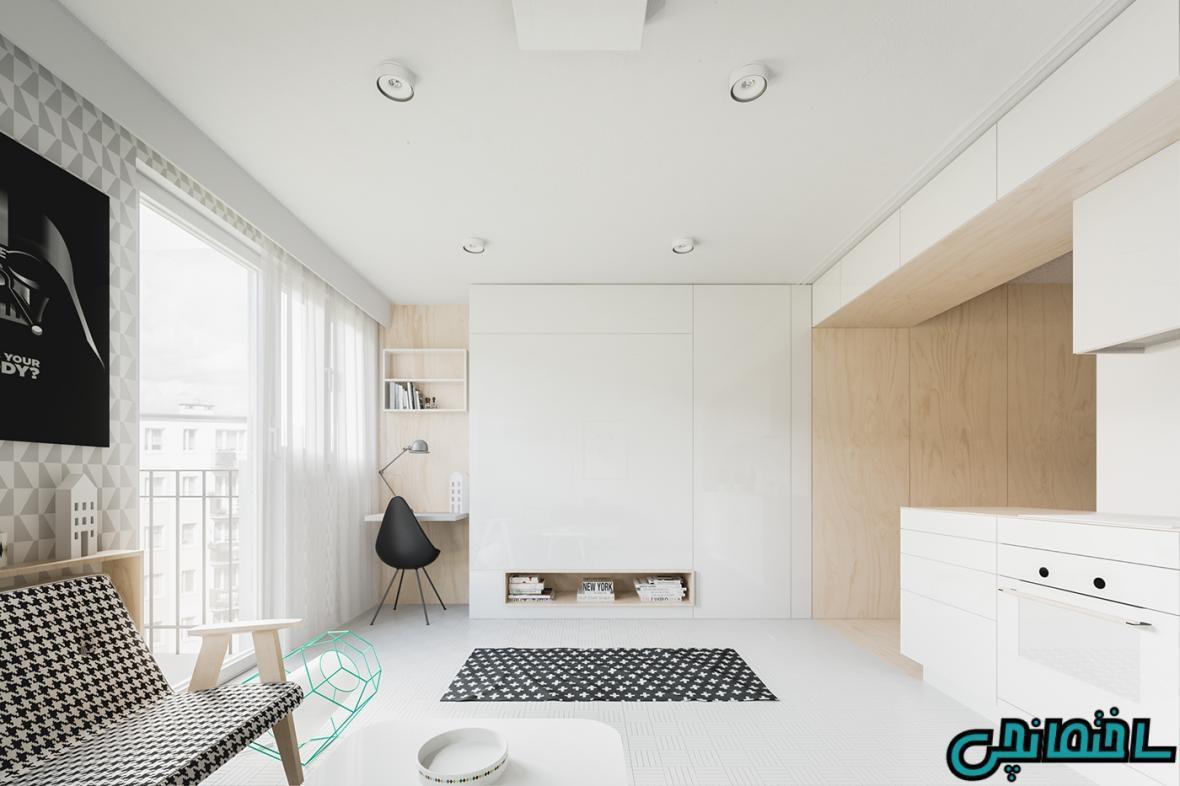 تصاویر طراحی خانه با متراژ کمتر از 50 مترمربع