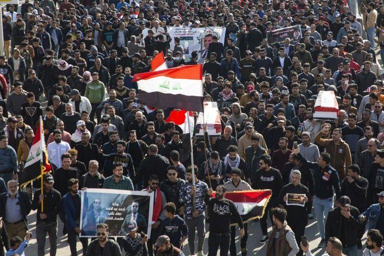 تظاهرات در عراق به خاطر قتل دو روزنامه نگار